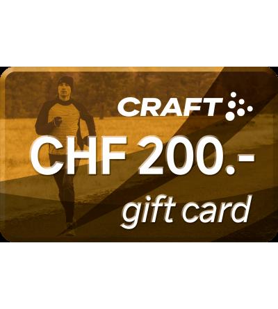 Cartes cadeaux  Carte cadeau - CHF 200.- -